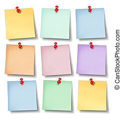 Reminder Office notes - Reminder office notes with six blank...