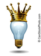 Winning Ideas - Best ideas concept with a light bulb and a...