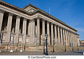 Exterior of St Georges Hall, Liverpool, UK