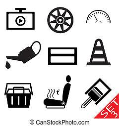 Car part icon set 3
