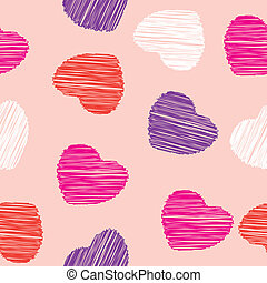 heart seamless pattern vector love background
