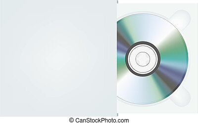cd in package. Vector illustration