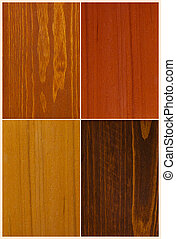 wood color swatches - set of four wood color swatches...