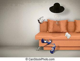 accessories concept, invisible woman - Female accessories...
