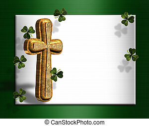 St Patricks day Irish border - image and illustration...
