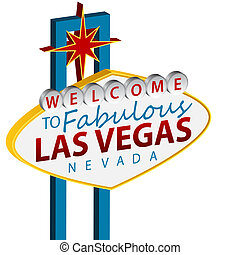 Welcome To Las Vegas Sign - An image of a welcome to Las...