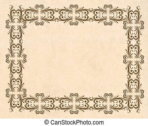 Parchment ornamental border