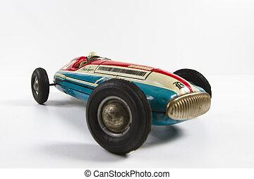 oud, speelbal, auto