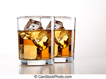 Whisky over white