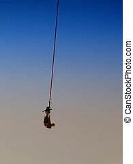 bungee jumping 03 - an action sports thrill seeker after...