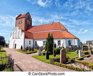 Bastad church 02 - An image of an old medieval church in the...