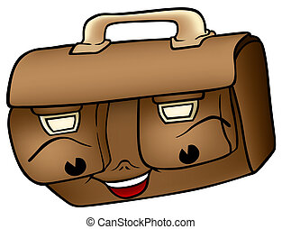 Schoolbag - Cartoon Illustration, Vector
