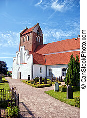 Bastad church 01 - An image of an old medieval church in the...
