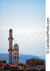 Crete mosque 01 - A minaret from an islamic mosque in the...