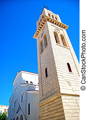 clock tower 02 - A clock tower situated on the greek isle of...