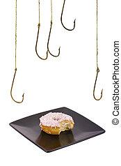 Last doughnut being stolen