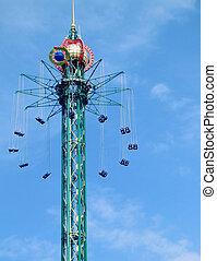 fairground ride 01 - fairground ride in copenhagens tivoli...