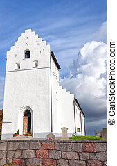 Ekeby kyrka - An image of an old white church in the swedish...