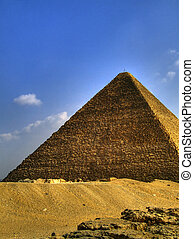 pyramids of giza 24 - one of the great pyramids of giza in...
