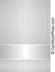 Vector silver background with sparkles