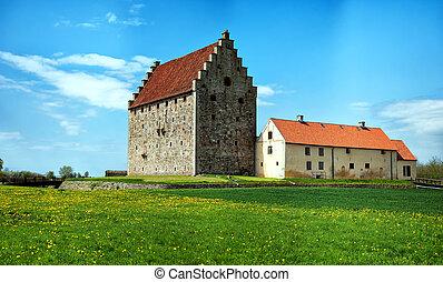 glimmingehus castle panorama 12