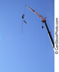 bungee jumping 04 - an action sports thrill seeker after...