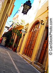 Rethymnon street scene - A street scene from the greek town...