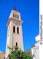 clock tower 01 - A clock tower situated on the greek isle of...