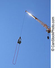 bungee jumping 01 - an action sports thrill seeker prepares...