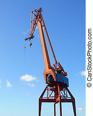 shipping industry crane - Large industrial shipping crane at...
