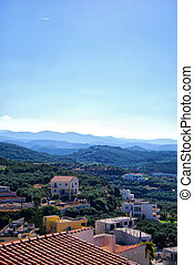 Platanias elevated view 02 - An elevated panoramic view of...