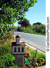 Greek roadside shrine 01
