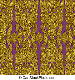 seamless Cambodian pattern - Vector seamless Cambodian...