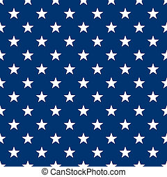 Seamless White and Blue Stars - White stars in alternating...