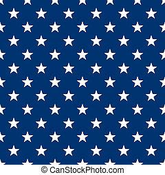 Seamless White & Blue Stars - White stars in alternating...