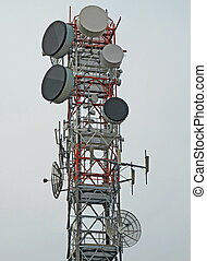 trellis with antenna for the repetition of television and mobile  signals