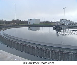 waterworks ecology basin - Waste water tanks of sewage...