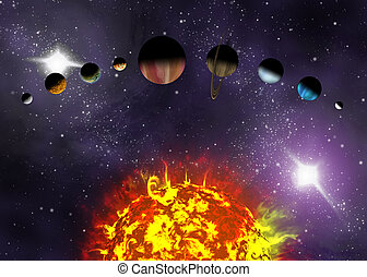 Illustrated diagram showing the order of planets in our...