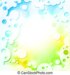 Spring colors background in abstract frame