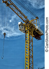 construction crane asia - An image of a construction crane...
