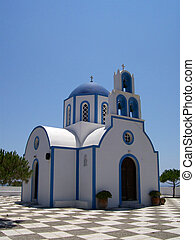 santorini church 58 - Image of a church on the greek island...