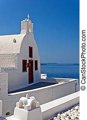 Santorini Oia Church 02 - A view of a white church from Oia...