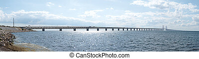 Oresundsbron panorama 01 - A panoramic image of the...