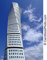 Turning Torso 12 - a view of the turning torso twisted tower...