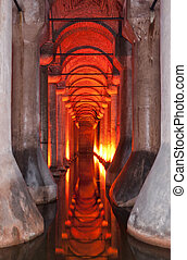 basilica cistern 02 - The dark, damp and gloomy basilica...