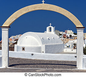 Santorini Oia Church 03 - A view of a famous white church...