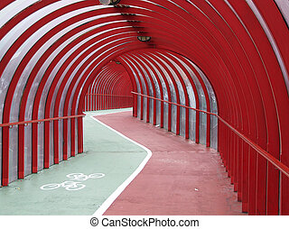 covered walkway 03 - a covered walkway and cyclepath in the...