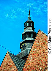 Ystad church 02 - A close up image of an old medieval church...