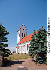 Torekov church 03 - An image of a white church in the...