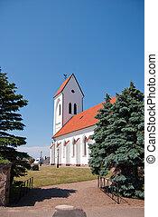 Torekov church 03 - An image of a white church in the...